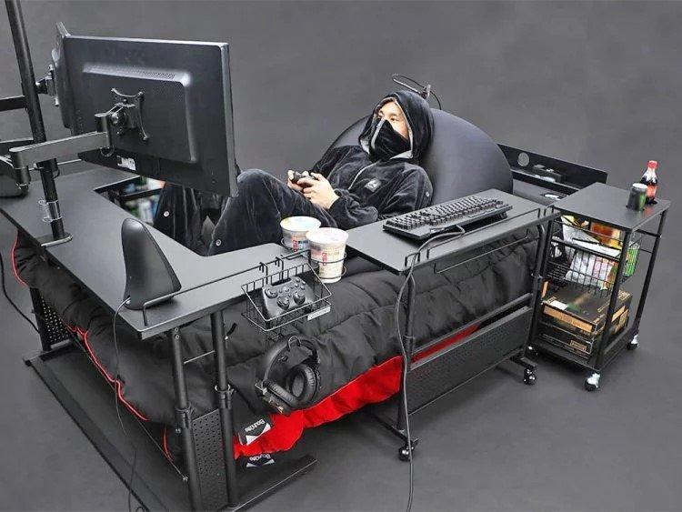 геймерская кровать Ultimate Gaming Bed bauhutte