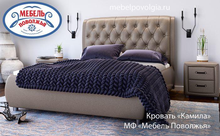 кровать с каретной стяжкой камила мф мебель поволжья