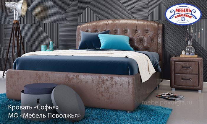 Кровать Софья каретная стяжка