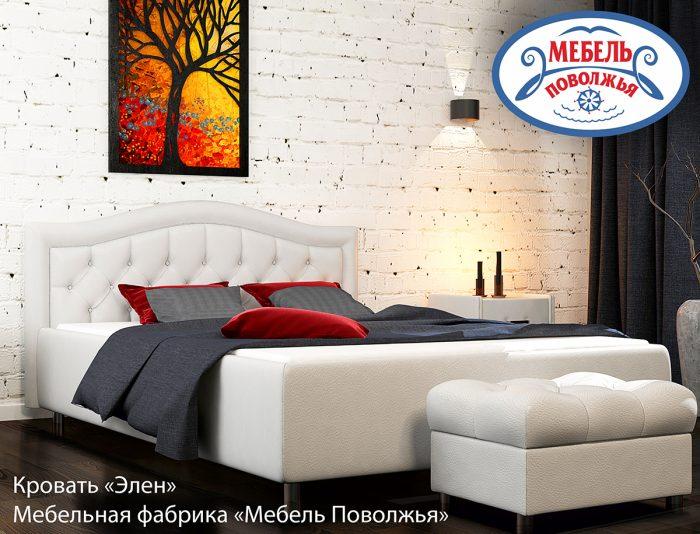 кровать с каретной стяжкой Элен МебельПоволжья